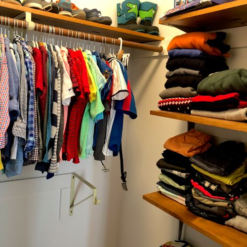 Now, clothing is separated and organized, making everything easier to find and at your fingertips!