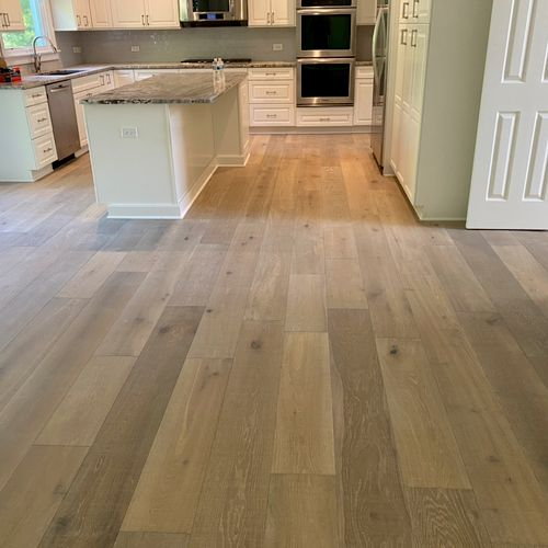 "Prefinished 7"" wide plank White Oak"