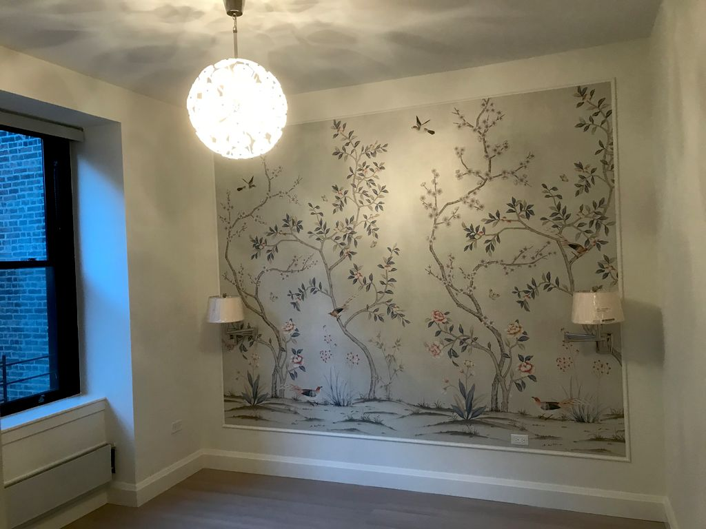 Wall paper installation and painting