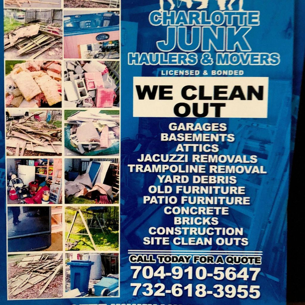 Charlotte junk haulers and movers