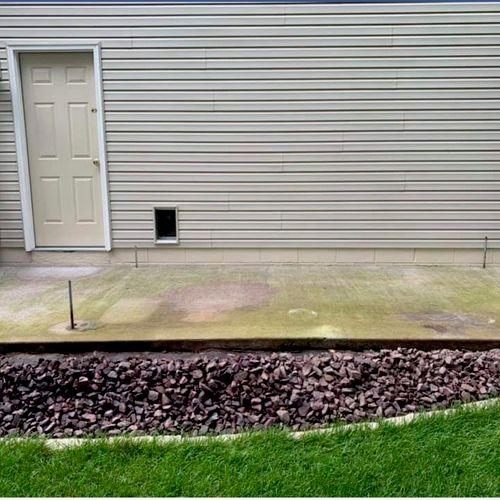 (before) plain concrete slab