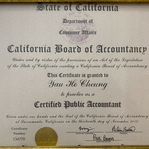 CPA license