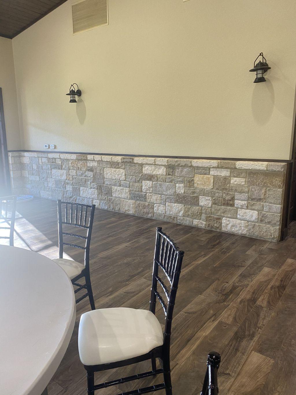 Custom furniture backdrop