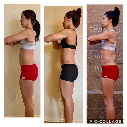 Jen showing her self progress