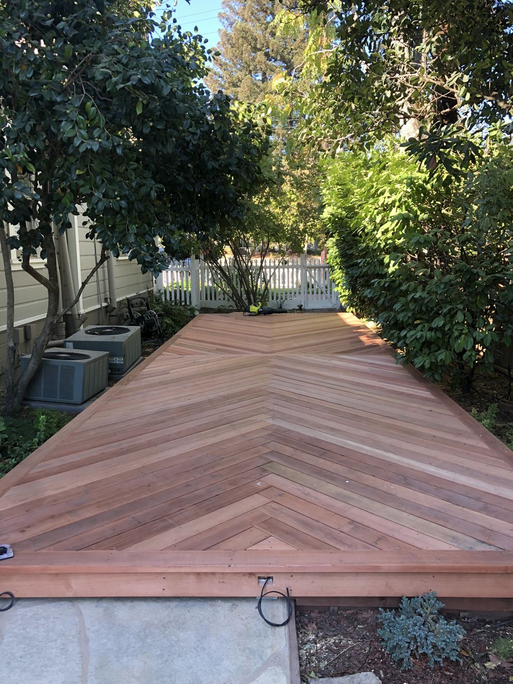 New Redwood deck