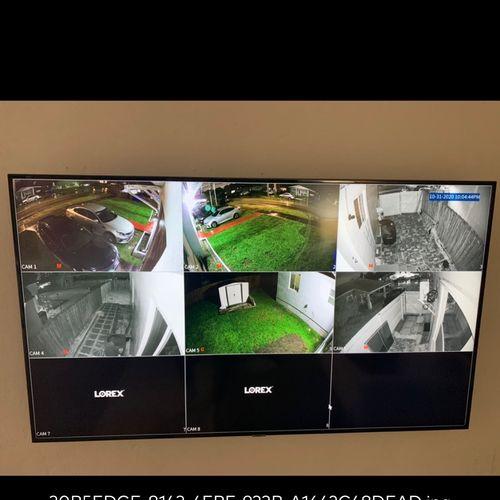 6 camera install
