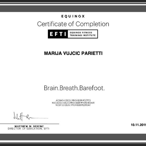 """Brain-Muscle Optimization"" Certificate"