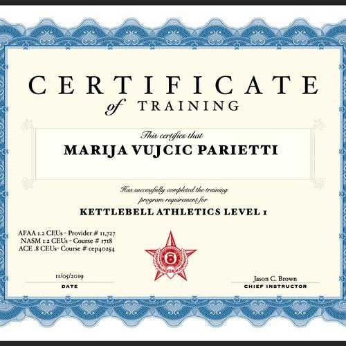 Kettlebell Certificate