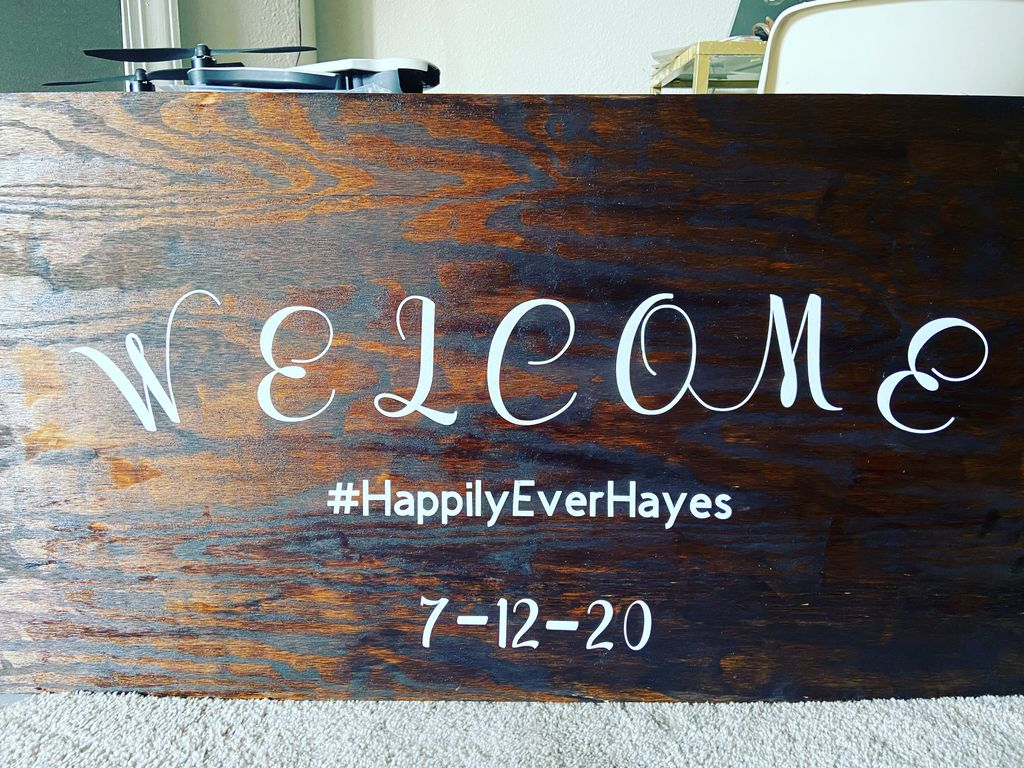 Customized wedding welcome sign