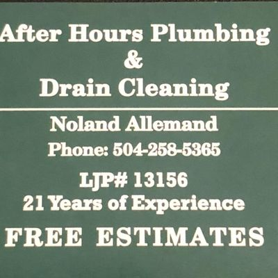 Avatar for After Hours Plumbing and Drain Cleaning LLC