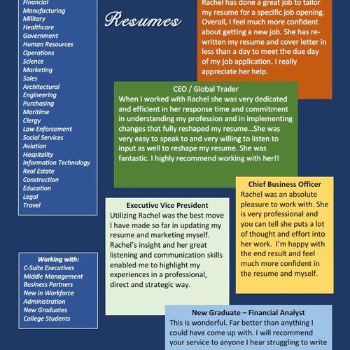 Resume Writing Testimonials