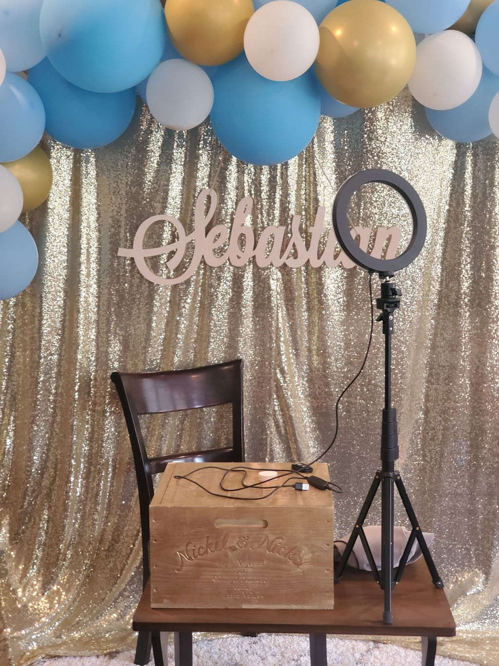 Virtual Baby Shower Back Drop with Lighting