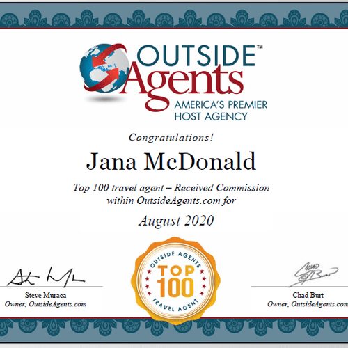 Top 100 out of over 6k agents for August 2020.