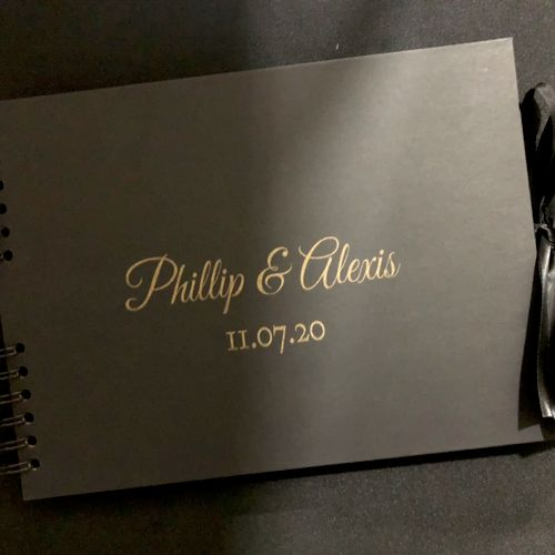 Customized Guest Book we offer with our packages