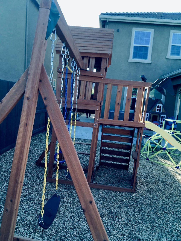 Kids swing set playground