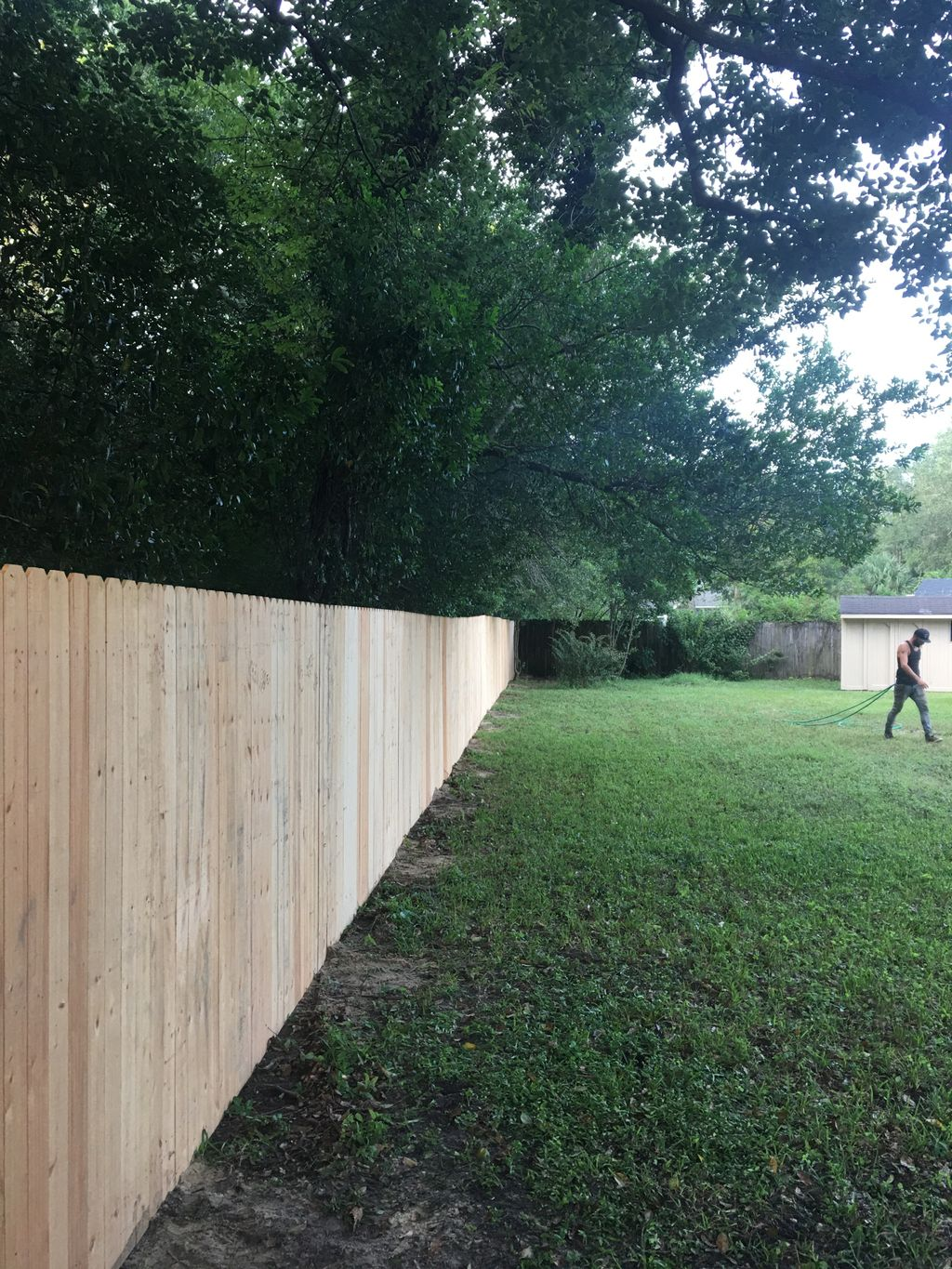 Fence install on rear fence line