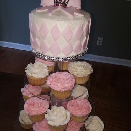 Big cakes and little cakes custom designed for your wedding