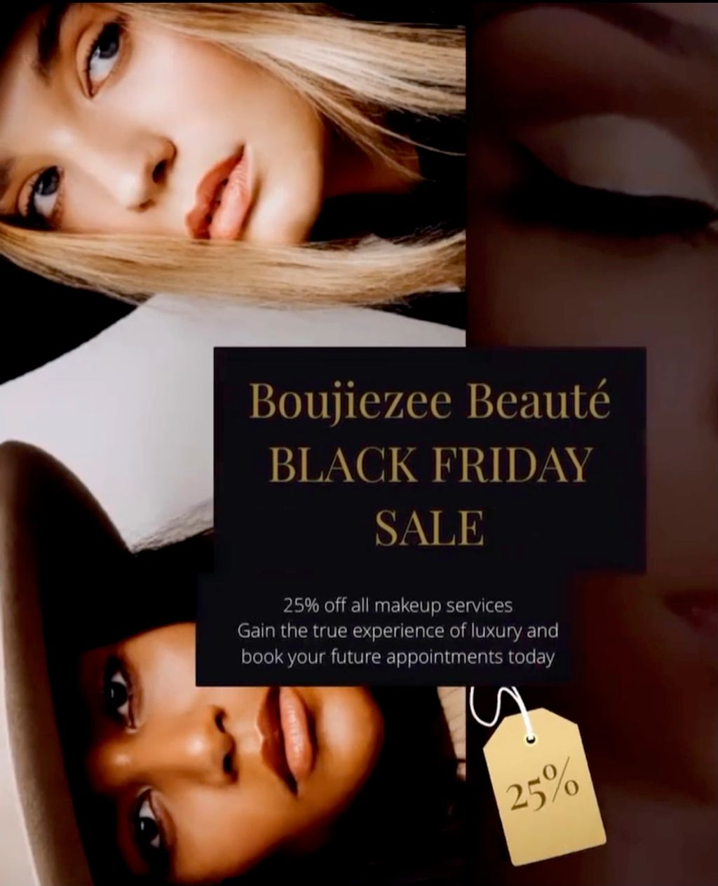 BLACK FRIDAY SALE 25percent OFF ALL MAKEUP SERVICES