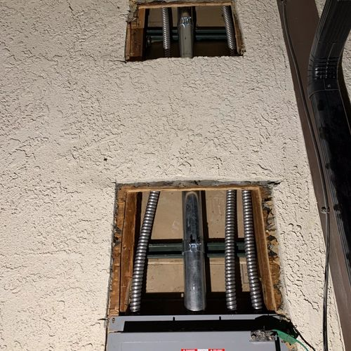 Main service panel upgraded