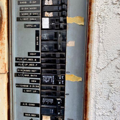 Main Service Panel before upgrade