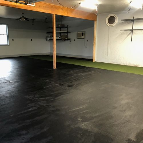 turf/rubber flooring for gym