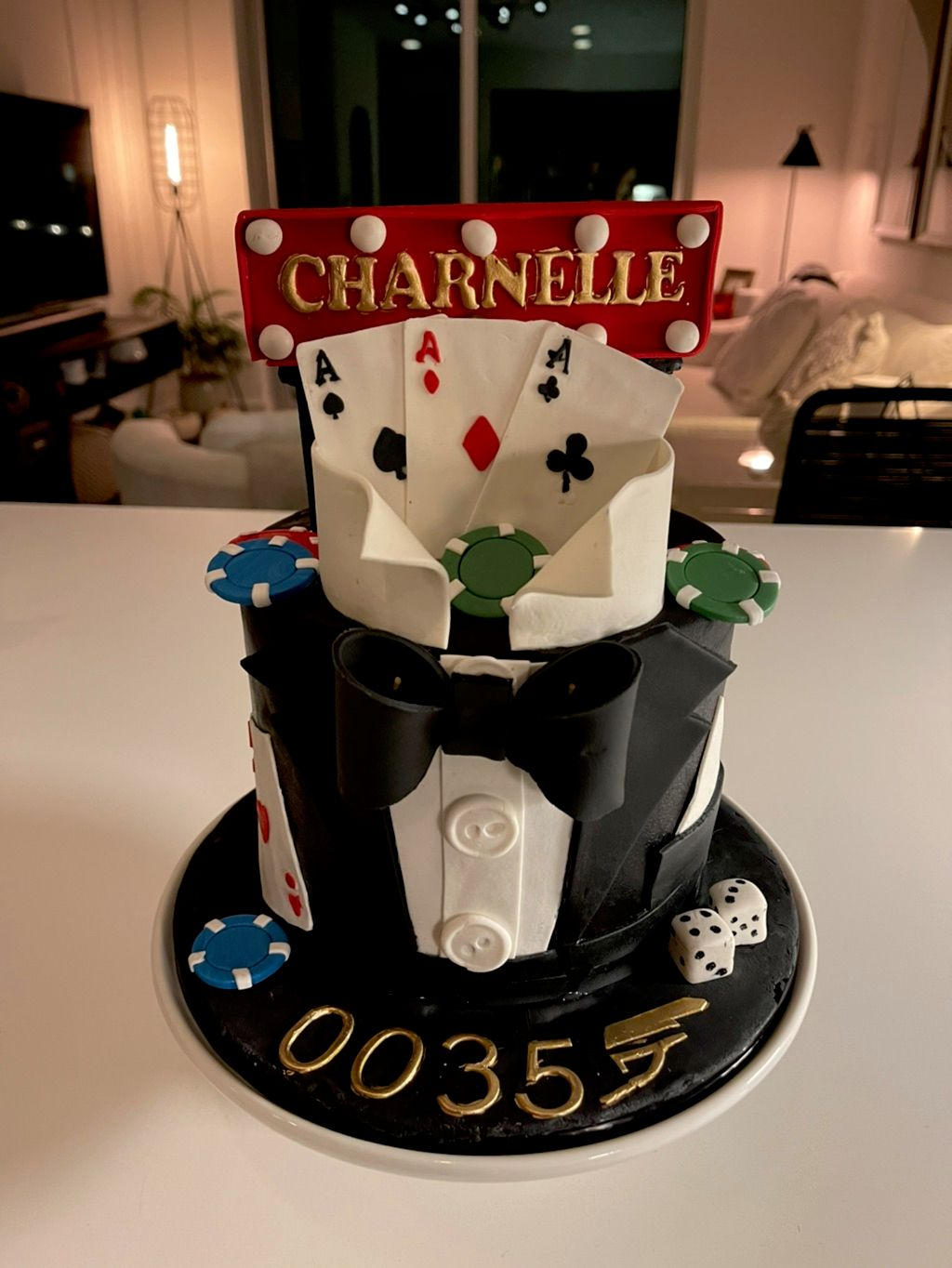 Casino Themed Birthday Cake - Atlanta 2020