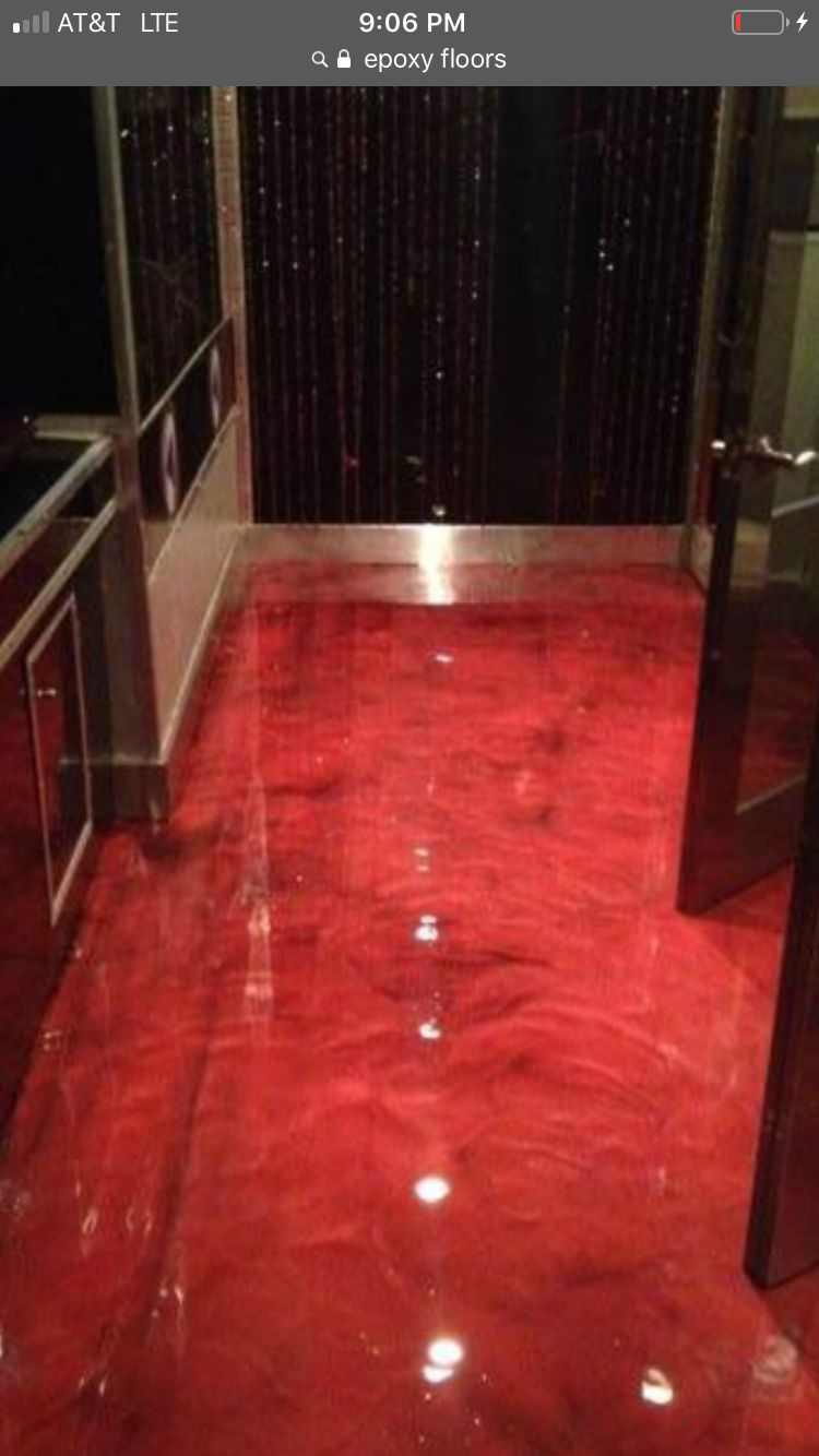 Epoxy floor in garage or basement ect