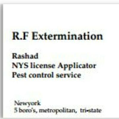 Avatar for R.F.Extermination LLC