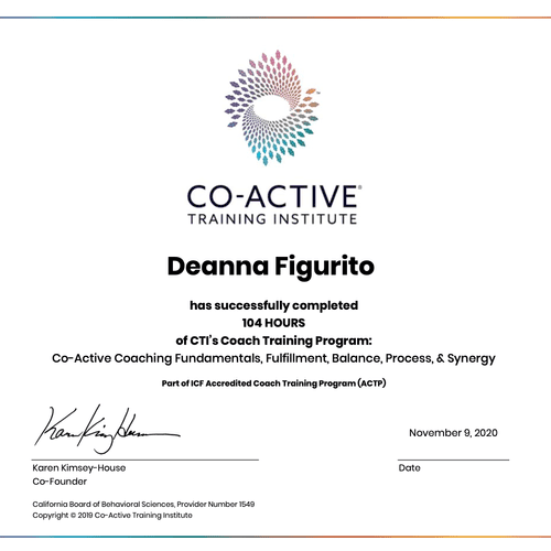Co-Active Training Coach Certificate
