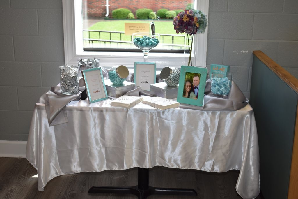 Small and large candy buffet