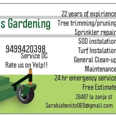 Avatar for Benito's Gardening