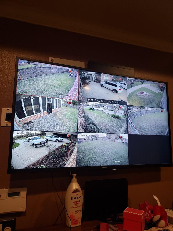 8 camera install