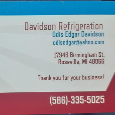 Avatar for Davidson Refrigeration