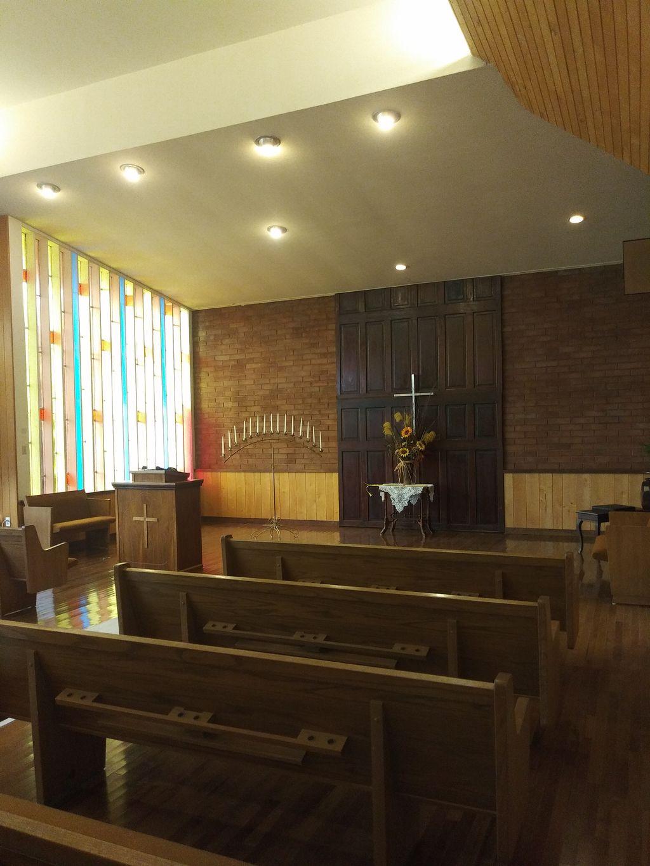 Small church indoor wedding