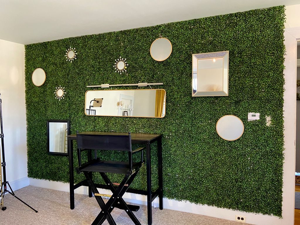 Creative wall design for a cosmetic studio