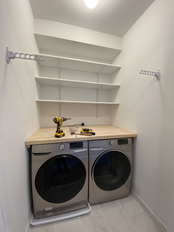 Laundry shelving