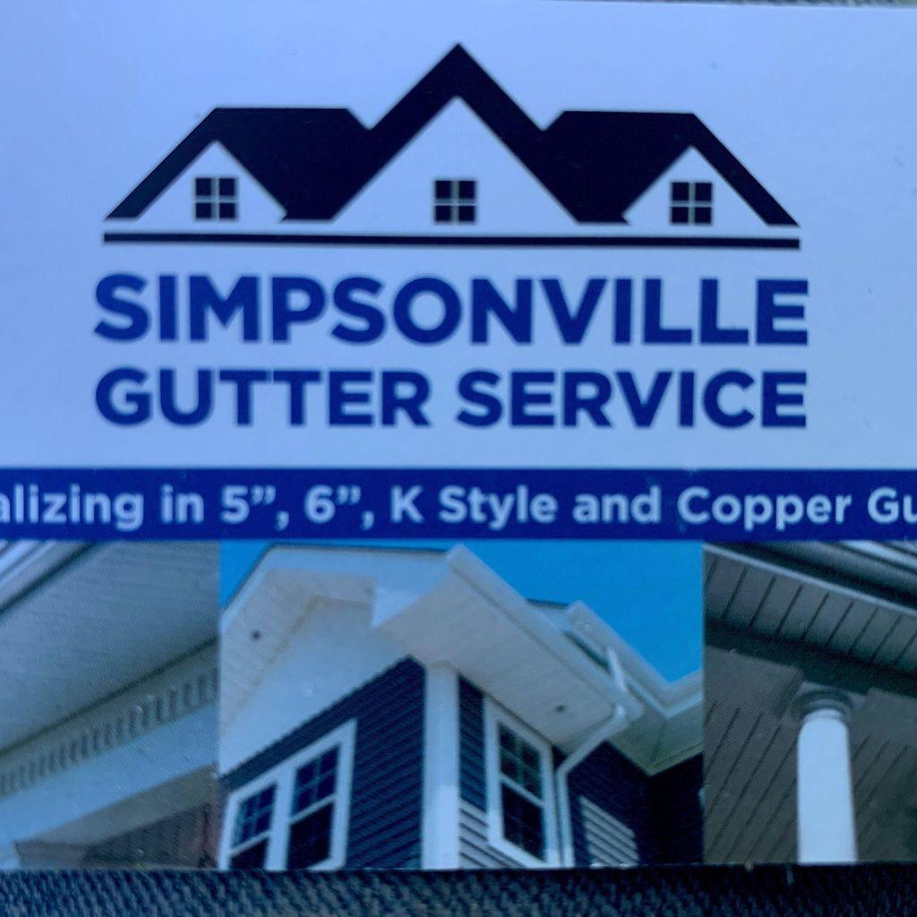 Simpsonville gutter service