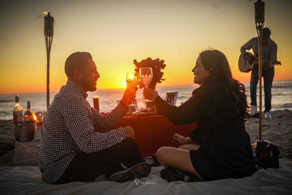 Surprise Beach Proposal Picnic