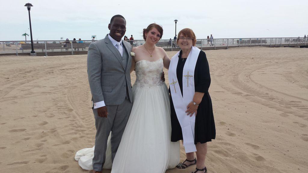 Coney Island Beach Wedding