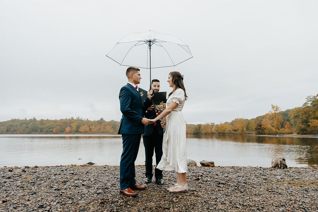 Elopement Rain or Snow