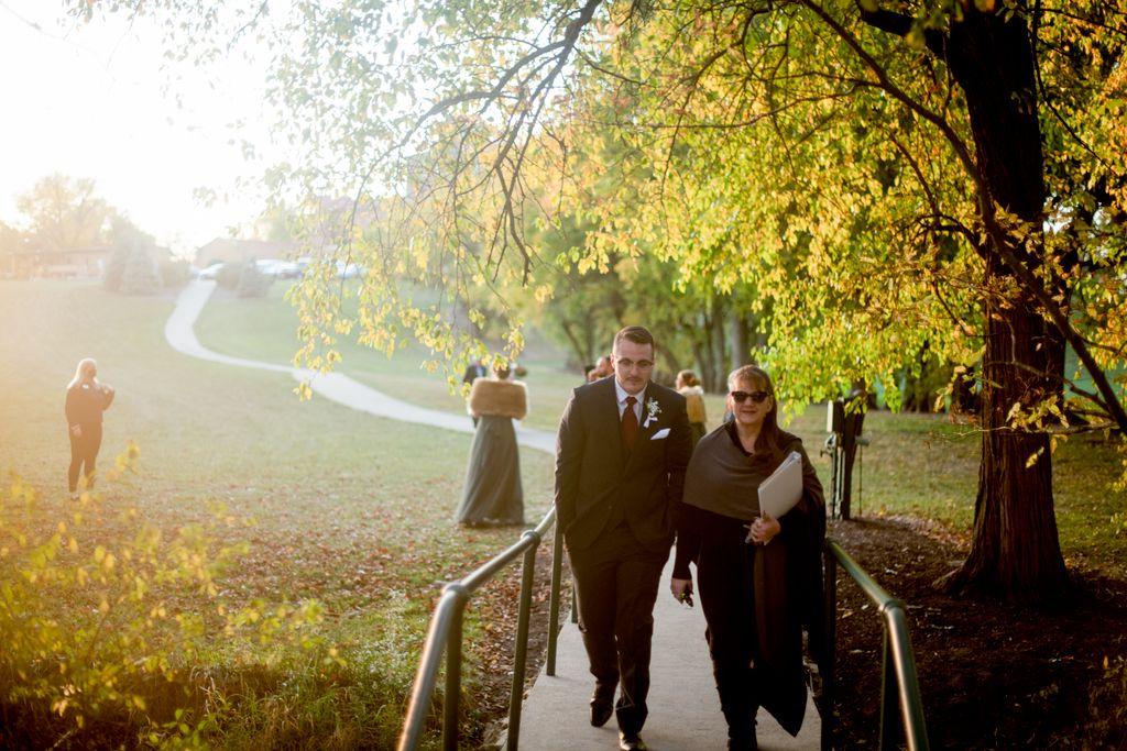 Autumn outdoor ceremony