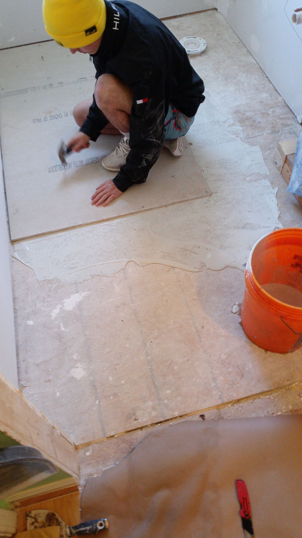 Floor and Shower installation