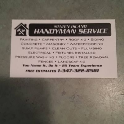 Avatar for Staten island handyman services & construction