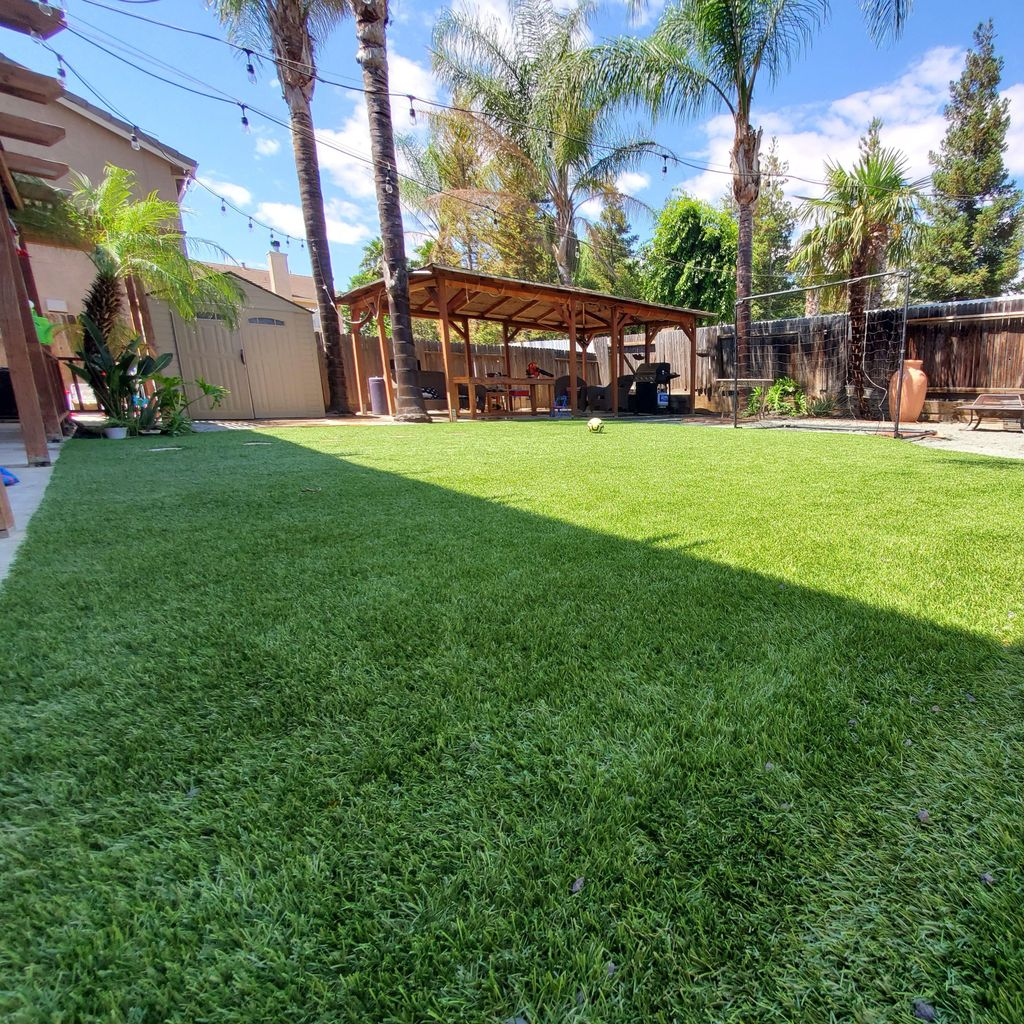 Beautiful Artificial Turf and Concrete