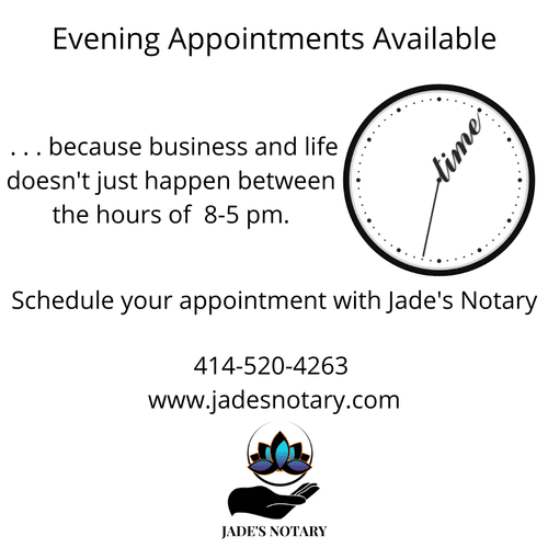 Evening Appointments Available
