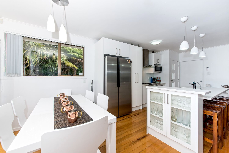 new fridge in kitchen