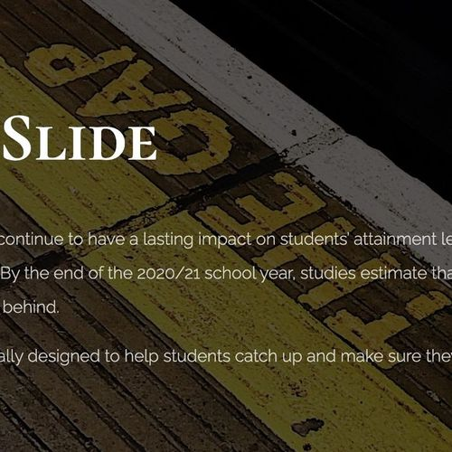 """Check out our """"Stop the Slide"""" program to help students keep up with distance learning"""