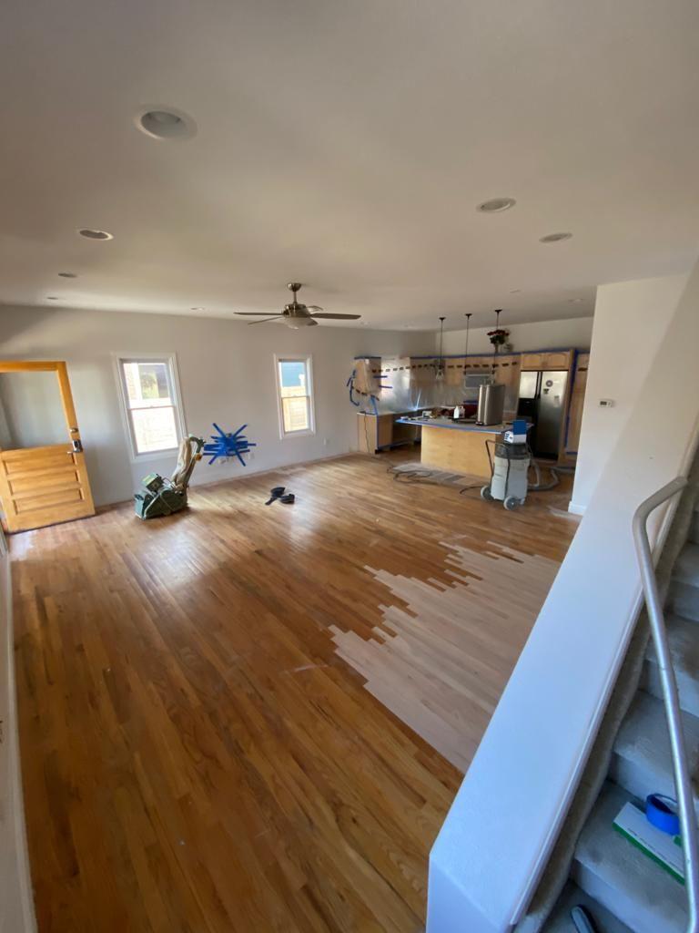 Refinish red oak hardwood floors