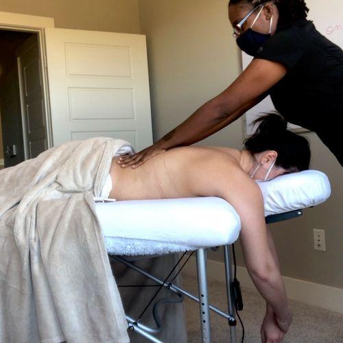 Doing some Swedish Massage!
