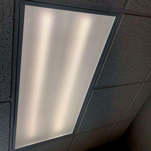Commercial LED light Installation